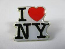 New York Metall Pin I LOVE NY weiß white Souvenir USA Amerika,Neu