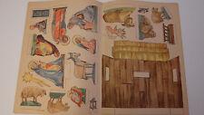 Alter Ausschneidebogen Papierkrippe, T. Eisgruber, zum aufkleben auf Sperrholz