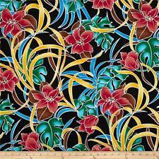 Cotton Fabric Robert Kaufman Tahitian nights  dressmaking  /craft per half metre