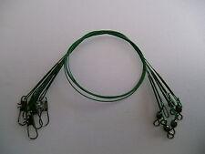 pêche au brochet :25.4x30.5cm enduit en plastique fils de trace & LIEN CLIPSABLE