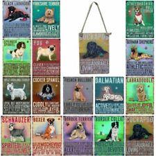 Vintage Style Metal Dog Sign Retro Hanging Plaque Breed Characteristics - 9cm