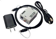 Digital Optical SPDIF Toslink Signal to Analog RCA L/R Audio Converter Adapter