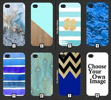 Blue and Gold Phone Case Cover Marble Glitter Black Pattern Wood Style 533