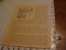 vintage Original SF Zine: LOCUS #38 sept 24, 1969--Charlie & Dena Brown--10 pgs