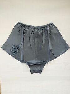 Women Lady Sexy 100% Silk Comfy Lace French Knickers Bottom Sleepwear Nightwear
