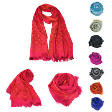 Casaba Womens Royal Elegant Formal Silk Feel Scarves Scarf Shawl Light Wrap
