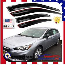 Fit 17 -18 SUBARU Impreza Hatchback OEJDM STYLE SMOKED WINDOW VISOR VENT SHADE