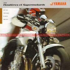 YAMAHA XJR 1300 TDM 900 XT 660 X WR 250 - 2008 : Brochure Dépliant Moto #0028#