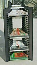 Tabletop CD Storage Rack Tower Black Holds 25 CDs