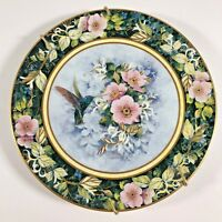 "Royal Doulton The Rivoli Hummingbird Plate 8"" Fine Bone China Franklin Mint"