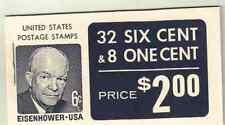 Scott # 1393/1278.. BK 119...Eisenhower..40 Stamps..32x 6 cent + 8x1 cent @FV+$1