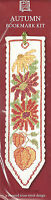VAT Free Textile Heritage Counted Cross Stitch Kit Bookmark Autumn Floral New