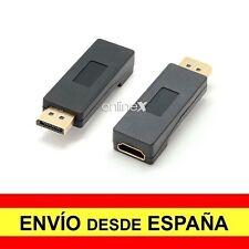 Adaptador Convertidor DP (DisplayPort) Macho a HDMI Hembra 1080p a2712