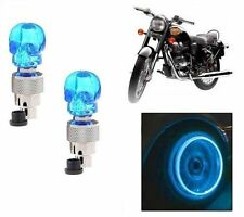 Skull Shaped Tyre Led Motion Sensor Blue Light for Hyosung Bikes Set Of 2