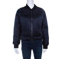 NWT Diane Von Furstenberg Satin Alexander Down Bomber Jacket Size Small $895