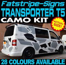 VW TRANSPORTER T5 CAMO GRAPHICS STICKERS STRIPES DECALS DAY VAN CAMPER SWB LWB