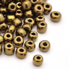12/0 Iris runden Glasperlen Coconutbraun Rocailles Perlen Schmuck ca. 3304 Stk.