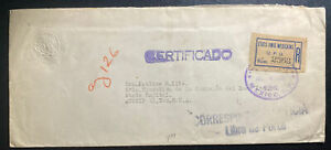 1946 Mexico City Mexico foreign affairs Diplomatic Cover To Austin TX USA