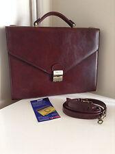 Texier Slim Brown Leather Briefcase