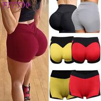 Women Sport Shorts Summer Hot Pants Yoga Gym Workout Waistband Slim Skinny Short