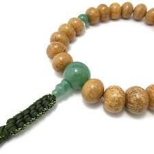 Indian Bodhi tree Wood & Green Aventur Japanese Juzu Buddhist Prayer beads Kyoto