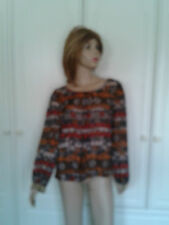 'SALE' ATMOSPHERE TOP SIZE 12 BEADED CUFFS 'SALE'