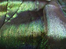 Iridescent Green Blue Organza Lame fabric BTY  Shiny Metallic Sheer Mesh Cosplay