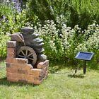Mill Solar Water Feature Garden Fountain Ornamental Patio Centrepiece Decorative
