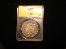 1878 CC Morgan Dollar graded by ANACS as G6, Rare VAM 7A