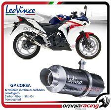 Leovince GP CORSA Terminale scarico carbonio Honda CBR 250R 2011>2013