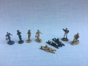 Micro Machines Galoob Military 9 X Soldiers Infantry Figures Bundle
