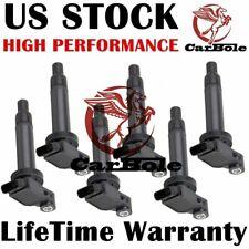 6 Pack UF-267 CL571 C1175 Ignition Coils for Lexus ES300 / RX300 3.0L 2002 Black