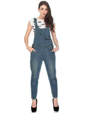5e2bc22c4a2f Women s Denim Overalls Stylish Casual Loose Vintage Lady Jeans Jumpsuit  Rompers