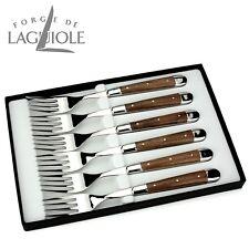 Forge de Laguiole - Gabeln 6er Set - Nussbaumholz - Tafelmesser Frankreich edel