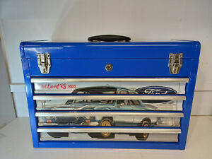Ford escort mk.1 themed and created specialist 4 drawer metal toolbox BLUE
