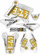 DRZ400SM Gold Exhaust Graphic Kit Drz400s drz 400sm 400s sm Shroud Decal drz 400