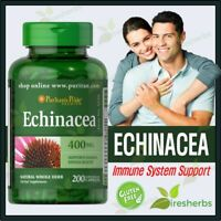 ECHINACEA 400mg Boost Immunity Immune Support Colds Dietary Supplement 200 Caps