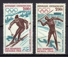 A662) Central African R.1968 Scott #C54/C55 MNH Olympic Games 2v