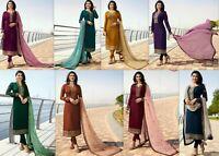 Designer Salwar Kameez Bollywood Pakistani Suit Party Wear Shalwar Kameez New RD