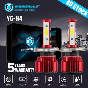 For Nissan Patrol GU Y61 10/2001-01/2012 4-sides Hi Low H4 LED Headlights Bulbs