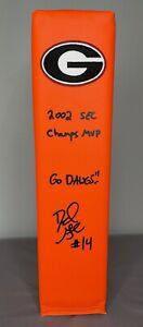 David Greene SIGNED Georgia Bulldogs Football Pylon w/ COA & Photo PROOF ~ 2002