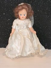 """Vintage UNMARKED  Storybook BRIDE DOLL BISQUE Clone 7"""" Tall VERY PRETTY DOLL"""