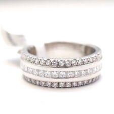 Platinum 1.50ct Round and Princess Cut Diamond Wedding Band