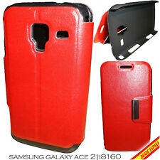 FUNDA SEMICUERO PARA SAMSUNG GALAXY ACE 2 I8160 SOPORTE HORIZONTAL LEATHER COVER