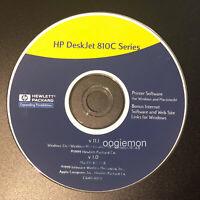 Setup CD ROM for HP DeskJet 810c Series Software for Windows and Mac