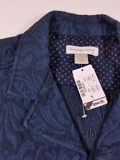 NWT Women's Christopher & Banks Blue Denim Vest Zipper 2 pockets size Small