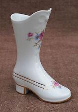French Transferware Gilt Limoges Porcelain Miniature Shoe Roses 1960