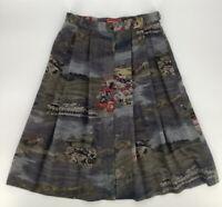 Vintage 80s Designer Geiger Skirt Austria 100% Pure Wool Sheep Lamb Country 44