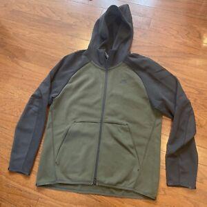Nike Sportswear NSW Men Tech Fleece FZ Hoodie SZ Medium Cargo Khaki DK Grey $100