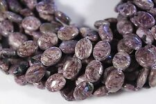 """RUSSIAN NATURAL CHAROITE 16X12mm OVAL GEMSTONE BEADS 15.5"""" STRAND"""